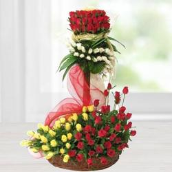 Regal Arrangement of Astonishing Roses to Burdwan