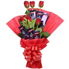 Sublime Love Treat Conclave of Red Rose and Cadbury Chocolates to Nadia