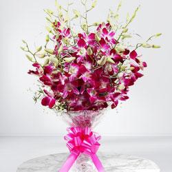 Wonderful Bouquet of Orchids Stems to Cooch behar