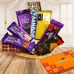 Delightful Gift Hamper Basket with Various Products to Darjiling