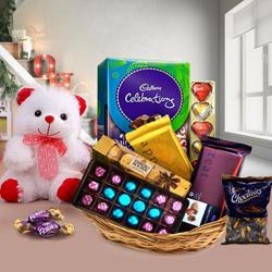 Array of Chocolate with Teddy Bear to South 24 parganas