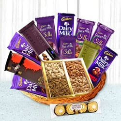 Precious Occasional Chocolate Hamper Basket to Jalpaiguri