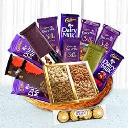 Precious Occasional Chocolate Hamper Basket to Birati