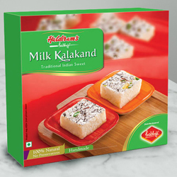 Haldirams Longing's Comfort Milk Kalakand Sweets Box to Lake town