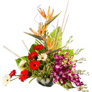 Touching Heart of Love Mixed Flowers Arrangement