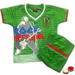Green Babywear for Boy with free Roli Tilak and Chawal.