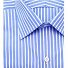 Impressive Blue and    White striped Arrow half Shirt