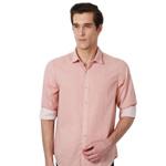 Coral Printed Peter England Shirt