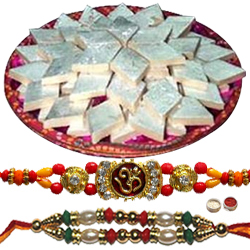 Two Significant Rakhi With Delish Soan Papdi