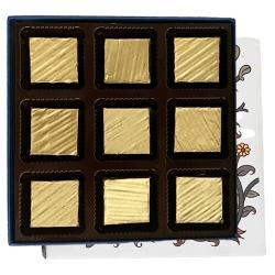 Mesmerising Gift of 9 Pcs Assorted Homemade Chocolates