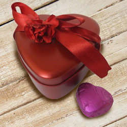Classic Heart Shaped Chocolate Box with Enigma of Love