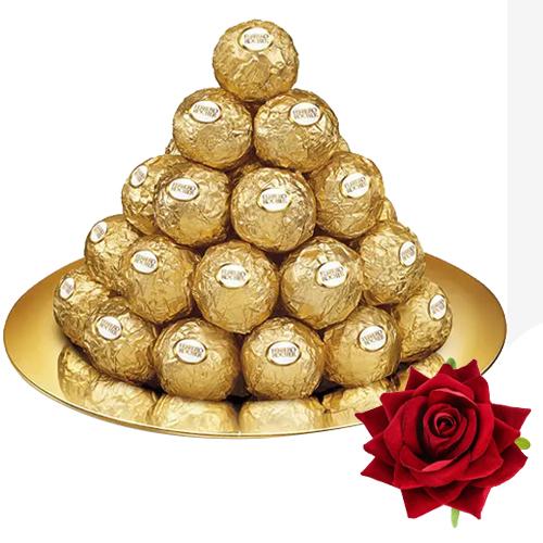 Gift Online Ferrero Rocher N Red Velvet Rose
