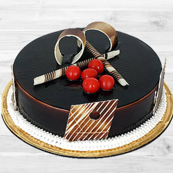 Delectable Treat Dark Chocolate Truffle Cake