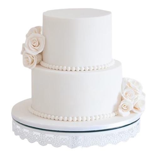 Precious Two-Tier Wedding Cake