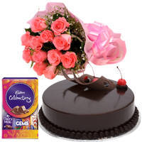 Glorious Flower, Cake and Chocolate Hamper