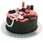 Tasteful Tinsel Makeup Kits Theme Cake