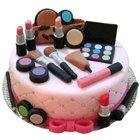 Gratifying Display Makeup Set Theme Cake