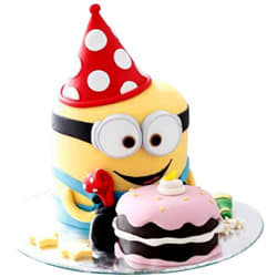 Adorable Ambrosia Minion Theme Cake