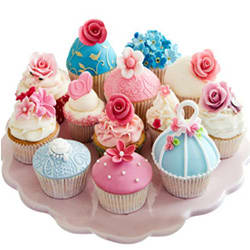Online Order Cup Cake Assemblage