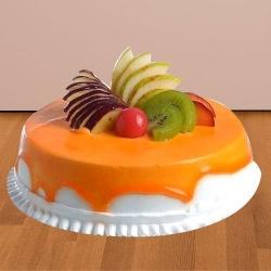Hunger's Pleasure 1/2 Kg Fresh Fruit Cake