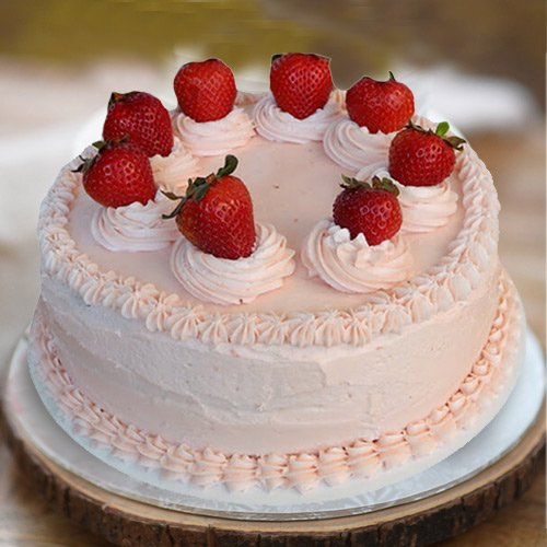 Silky Smooth 1 Lb Strawberry Cake from 3/4 Star Bakery