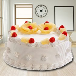 Taste of Success 2.2 Lb Eggless Pineapple Cake from 3/4 Star Bakery