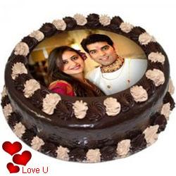 Toothsome Lovers Choice Chocolate Photo Cake