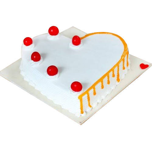 Gift Online Vanilla Cake in Heart Shape