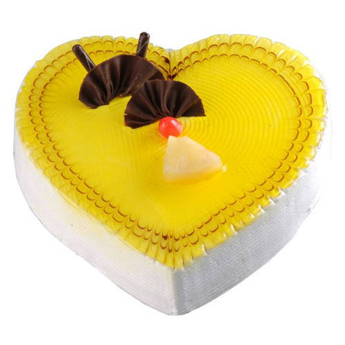 Order Online Heart Shape Pineapple Cake