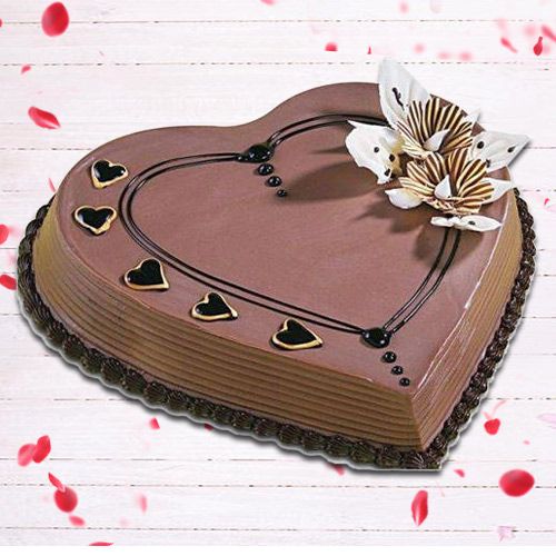 Deliver Online Coffee Cake in Heart-Shape