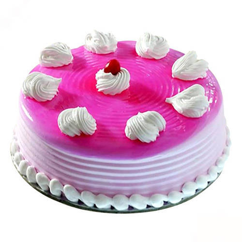 Online Gift Eggless Strawberry Cake