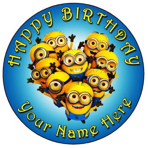 Gift Online Kids Minions Photo Cake