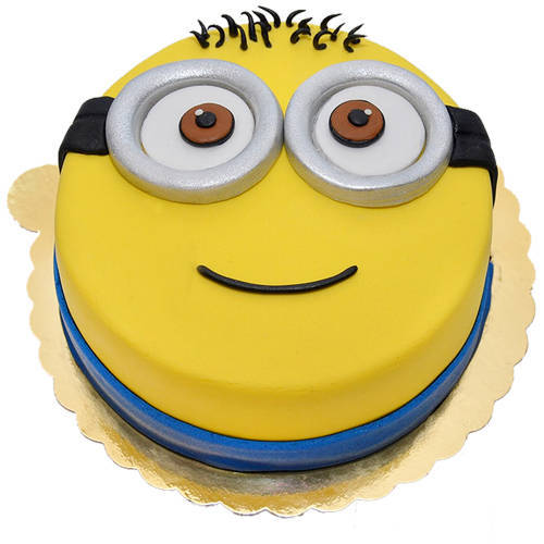 Buy Kids Happy Minions Fondent Cake Online