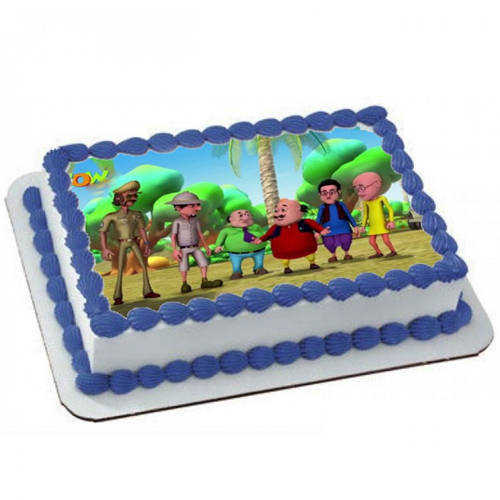 Order Motu Patlu Photo Cake for Kids Online