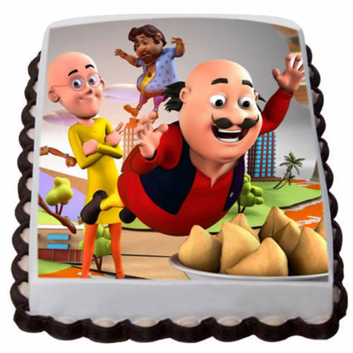 Online Gift Motu Patlu Photo Cake for Kids
