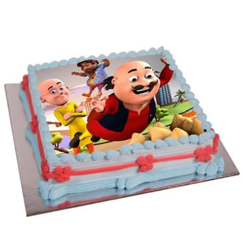 Buy Online Motu Patlu Photo Cake for Kids
