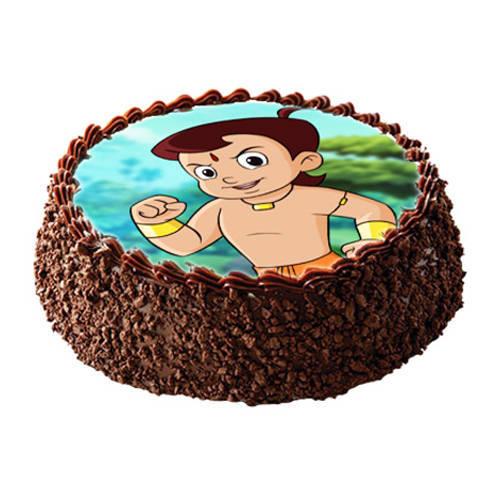 Shop Online Chota Bheem Photo Cake for Kids