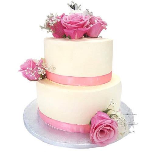 Book Online 2 Tier Wedding Cake
