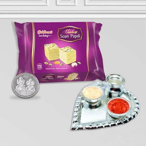 Haldiram Soan Papri N Thali , Free Coin