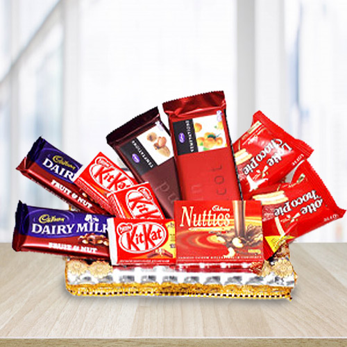 Mouth-Watering Variety of Chocolates Treats Gift Hamper
