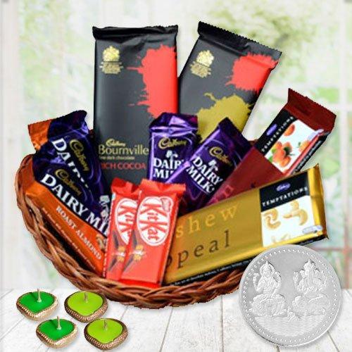 Irresistible Arrangement of Rich Chocolate Goodies