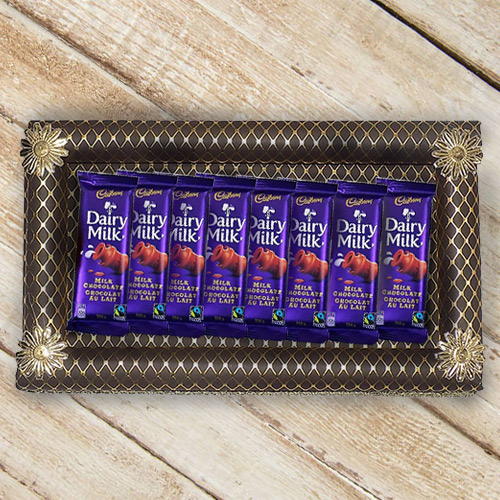 Finest 8Pcs Cadbury Dairy Milk Chocolates Gift Set