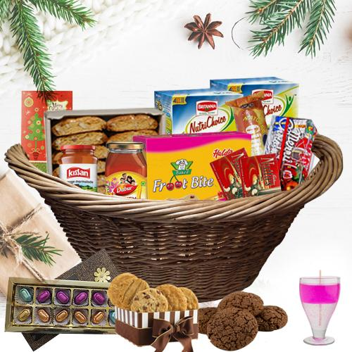 Party in a Basket Christmas Gift Hamper