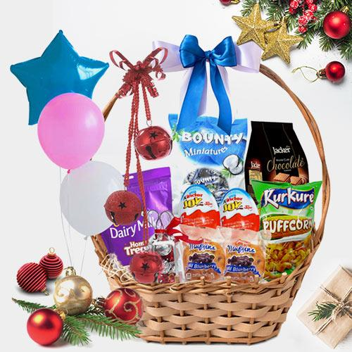 Splendid Christmas Kids Celebration  Basket