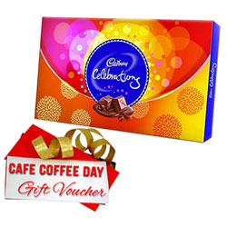 Attractive CCD Voucher with Cadbury Celebration Gift Pack