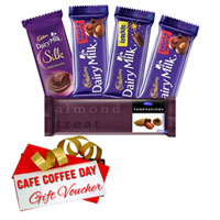 Remarkable Pack of Cadbury Assortment Chocolate and CCD Gift Voucher