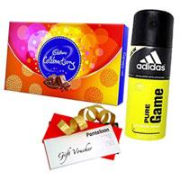 Beautiful Gift Pack of Cadbury Celebration, Adidas Deo and Pantaloons Voucher
