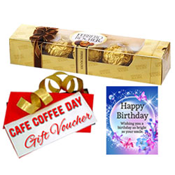 Chocolaty Treat of Ferrero Rocher, Birthday Card and CCD Gift Voucher