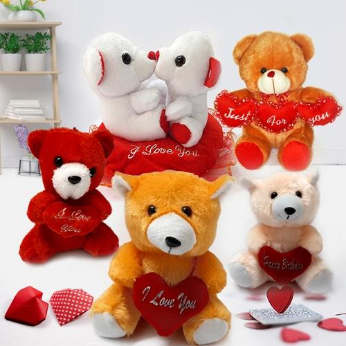 Valentines Day Lovable Teddy Bears Selection