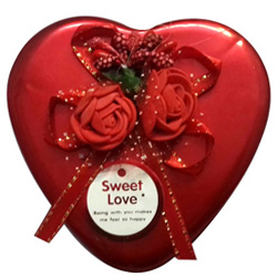 Beautiful Heart Shape Box of Assorted Chocolates
